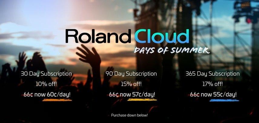 セール] Rolandが「Roland Cloud」が最大17%オフの「Days of